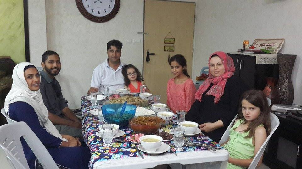 Lovely iftaar with Fareed and his family, prepared by his wife Ameena