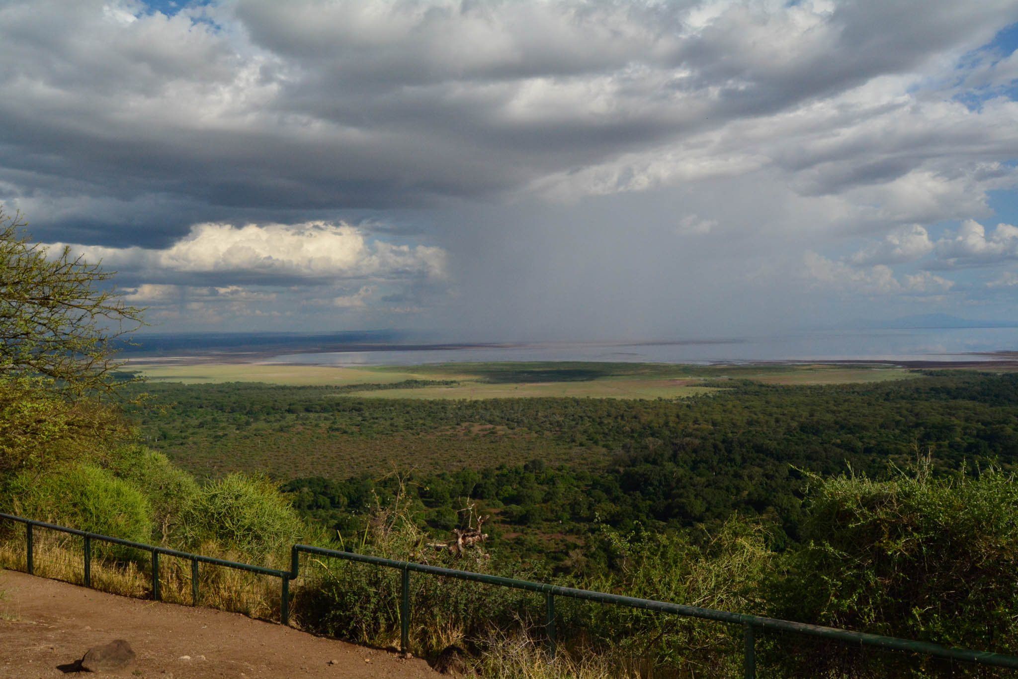 View Point for Lake Manyara on the way to Haven Nature Campsite