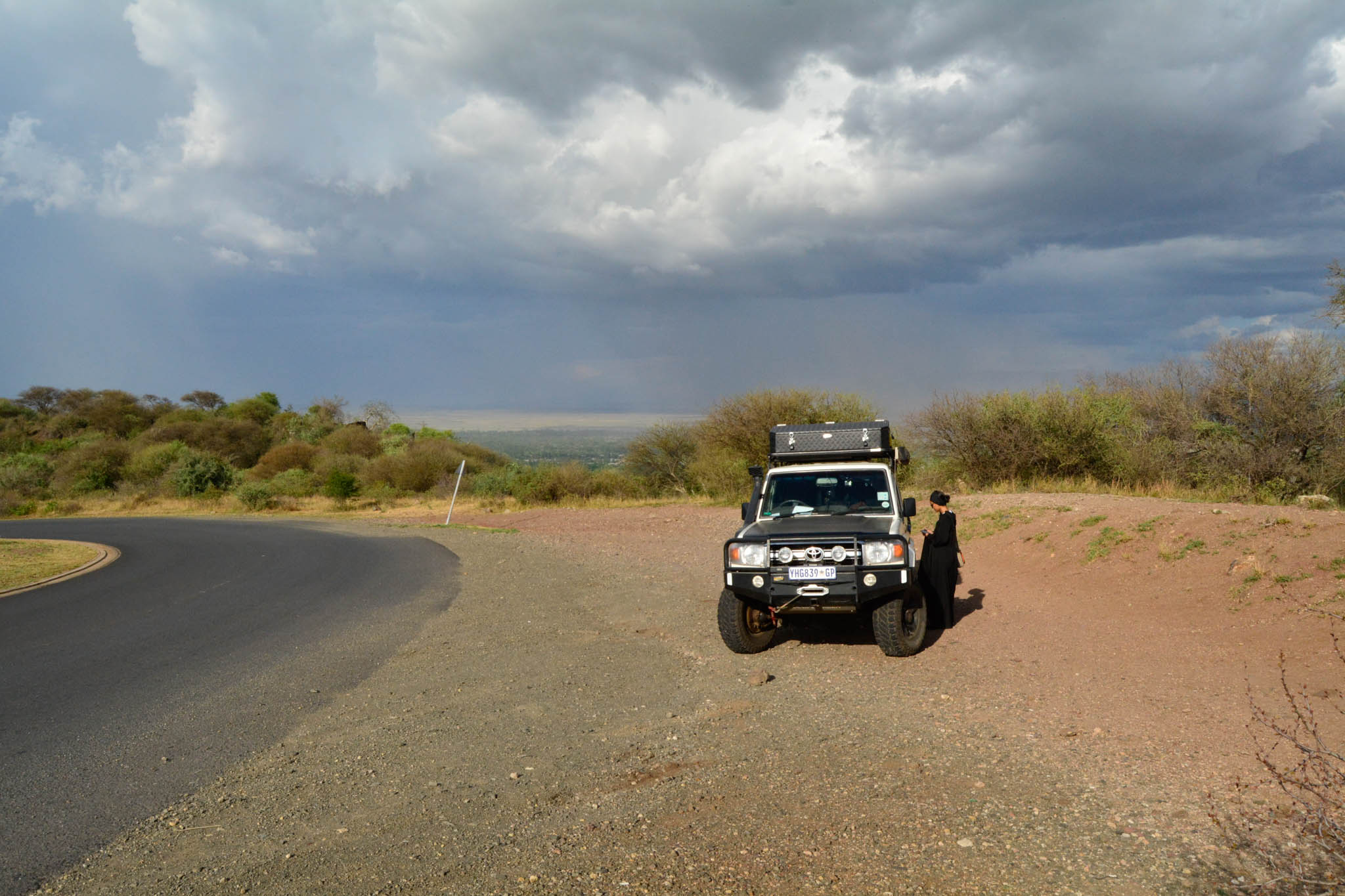 Stopped to view Lake Manyara