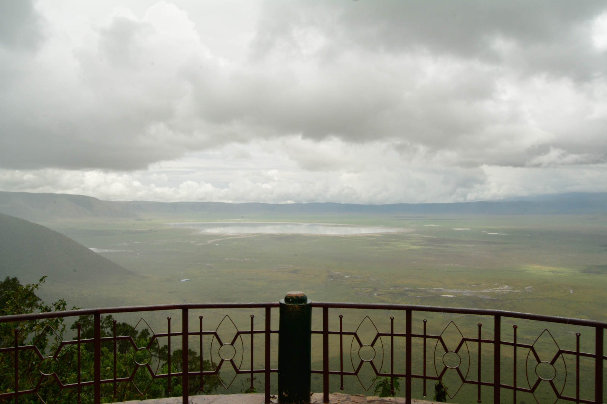 The lookout point over the Ngorongoro Crater