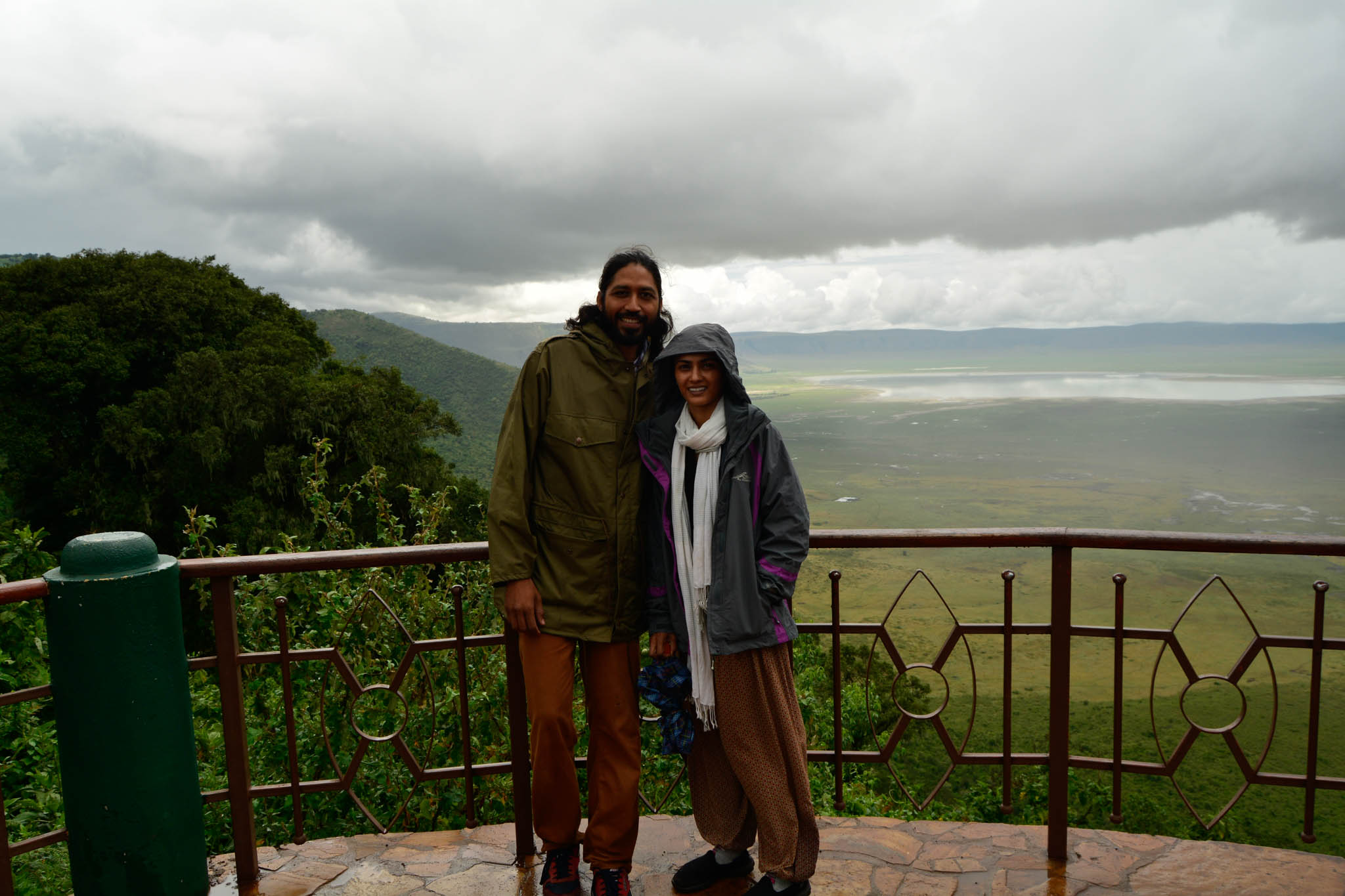 Us at the Ngorongoro  Crater