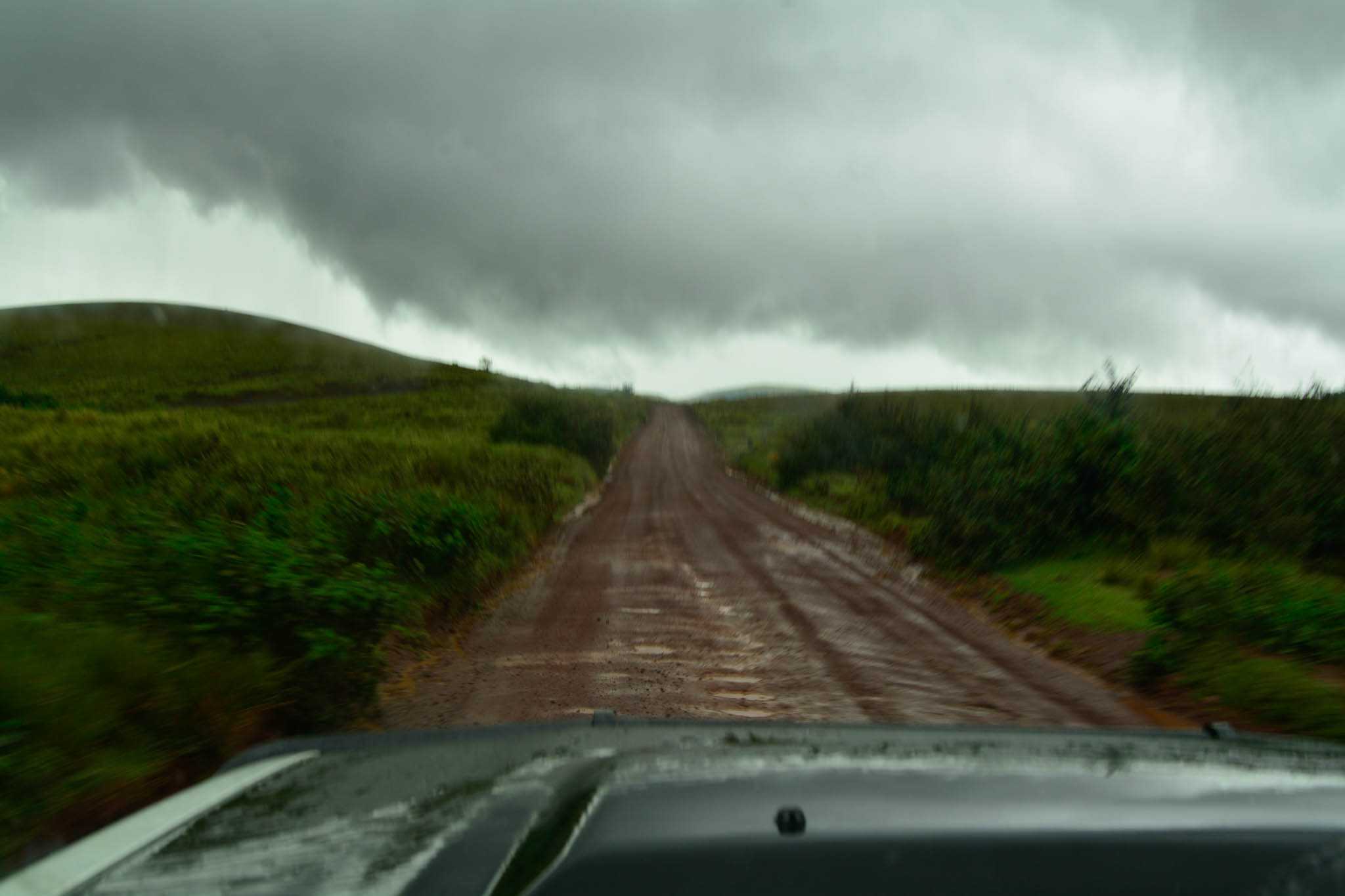 Rain on the way to the Serengeti