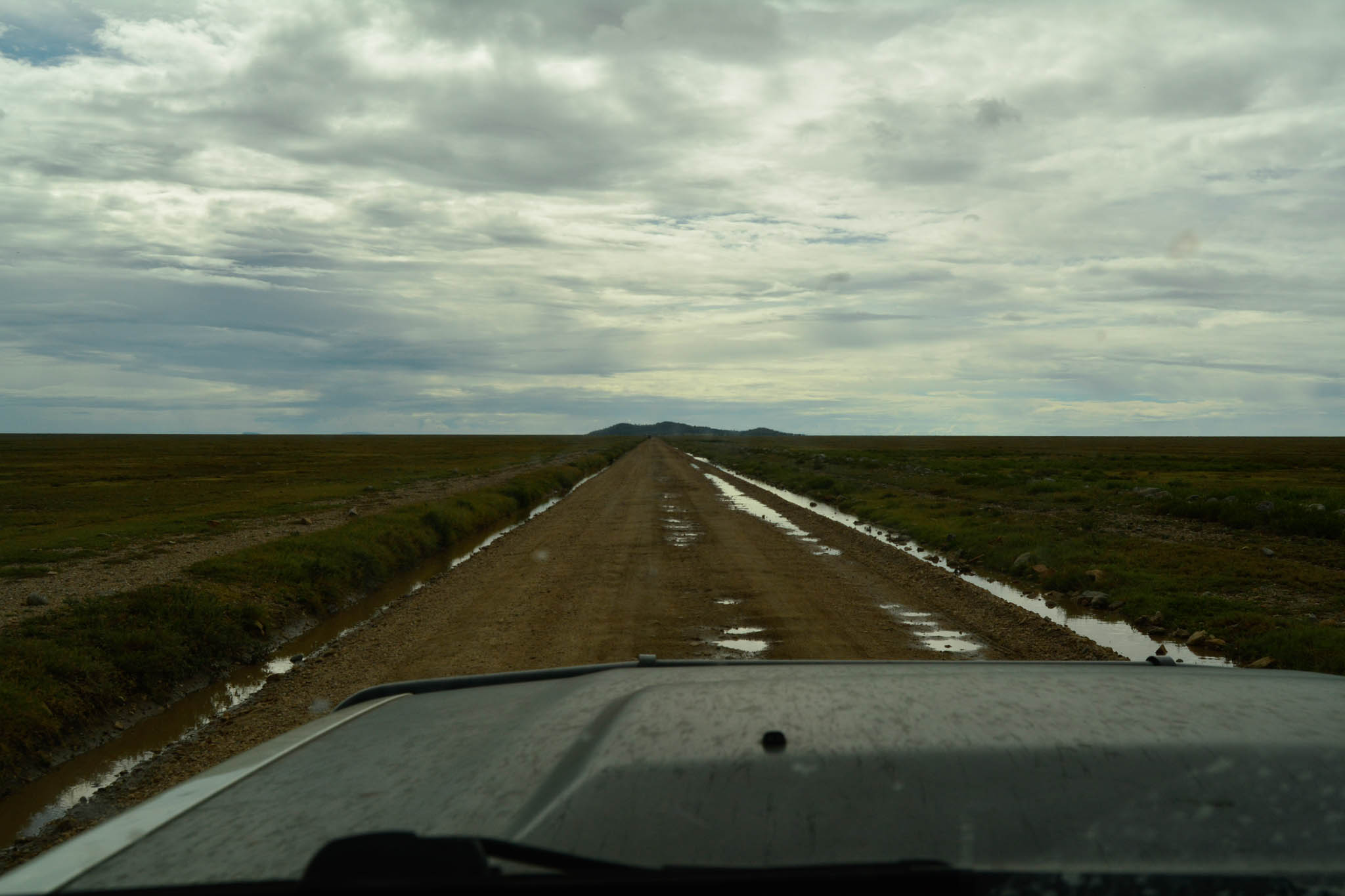 Road conditions in the Serengeti