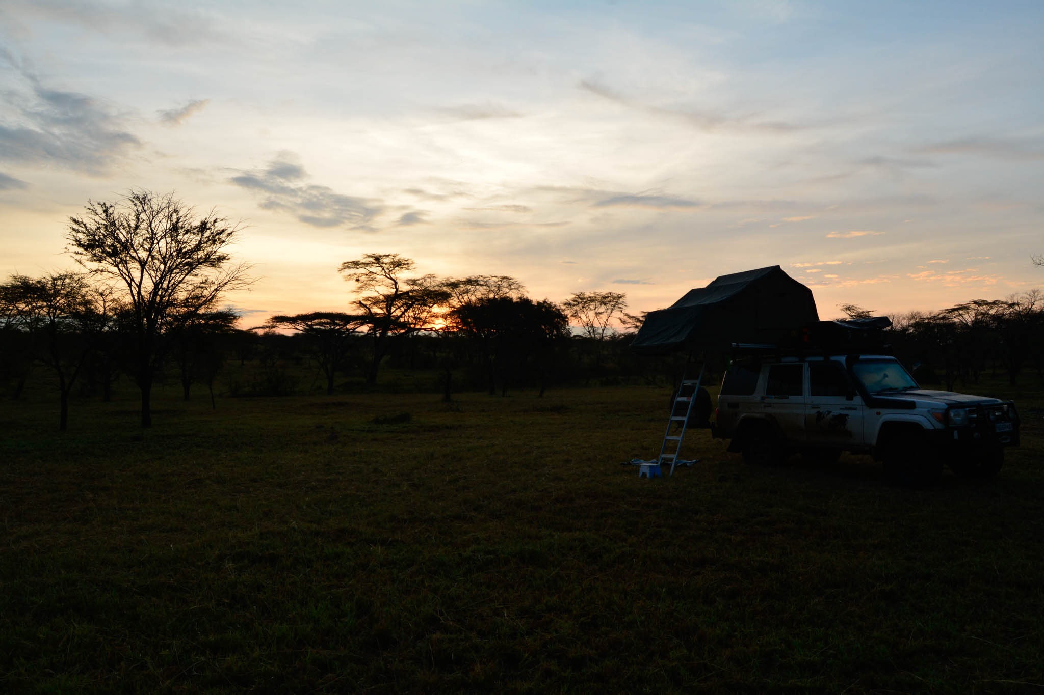 Our camp site in the Serengeti