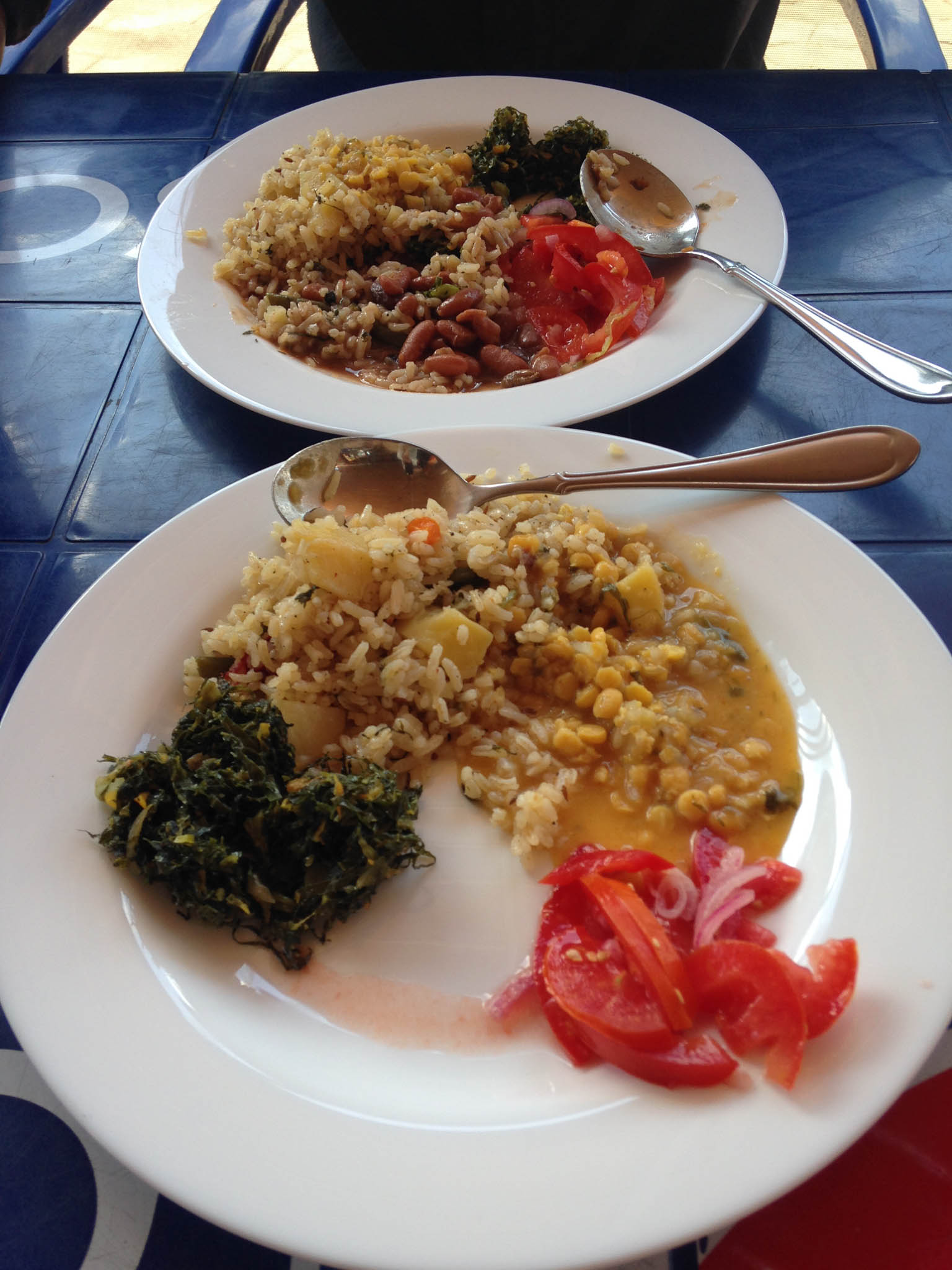 Lunch at Bhaajia was a traditional Tanzanian rice and lentil curry. Very tasty!!