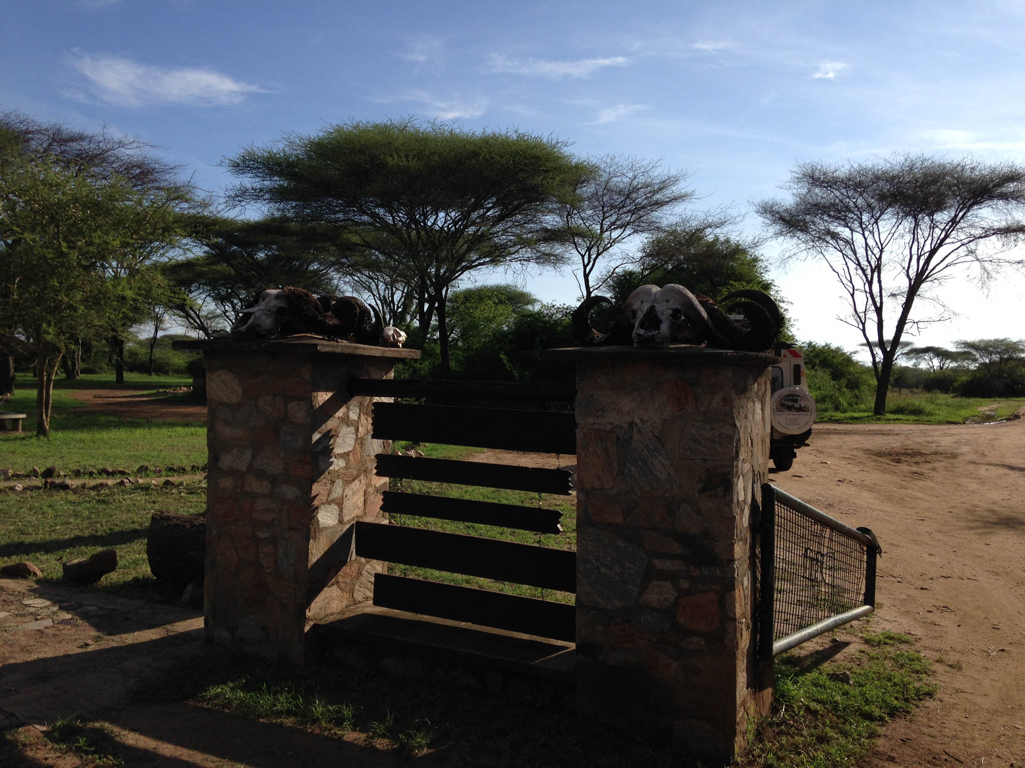 At the exit gate of the Serengeti